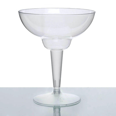 10 Pack | 10 Oz Clear Disposable Margarita Glass Crystal Collection