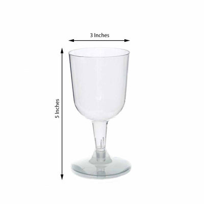 20 Pack Clear 6oz Disposable Wine Glass Crystal Collection