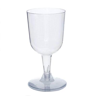 Pack of 20 - 6oz Clear Disposable Plastic Wine Cups - Crystal Collection