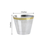 25 Pack Gold 9oz Disposable Tumbler Crystal Collection