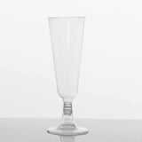 12 Pack 5oz Clear Plastic Disposable Champagne Flutes