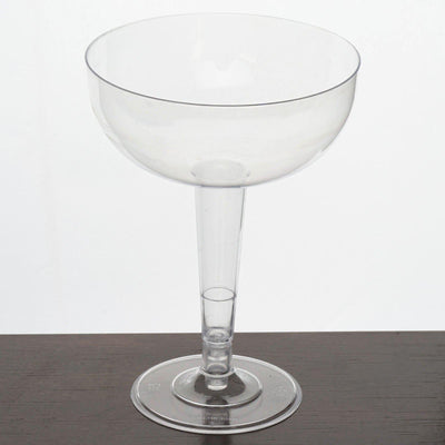 12 Pack - Clear 8oz Classy Round Disposable Champagne Glass