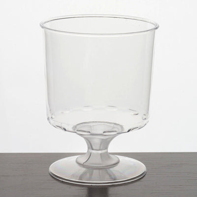 12 Pack 6oz Clear Plastic Disposable Wine Glass