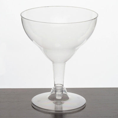 12 Pack 6oz Clear Voguish Plastic Disposable Margarita Glass