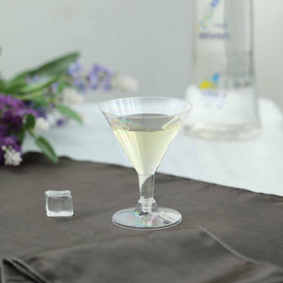12 Pack 5oz Clear Plastic Disposable Martini Glass