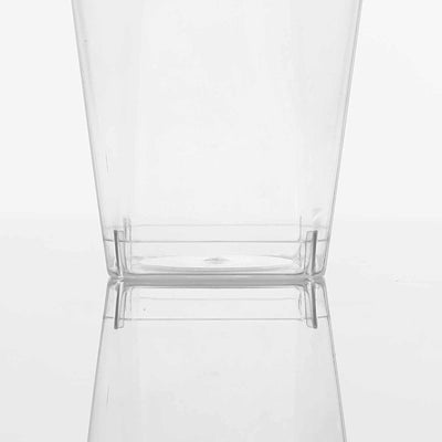 12 Pack 10oz Plastic Disposable Tumbler Glass Cup With Square Bottom