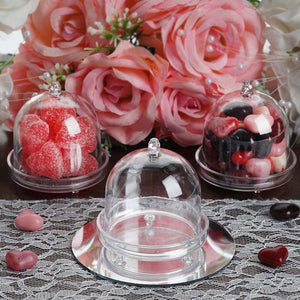 12 Pack Clear Plastic Disposable Mini Cupcake Muffin Container With Dome