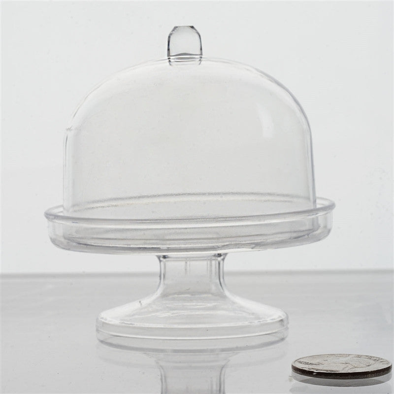 12 Pack Clear Plastic Disposable Mini Cupcake Muffin Container With ...
