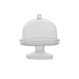 12 Pack Mini Clear Plastic Cupcake Muffin Cake Container Oval Stand