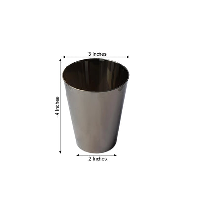 12 Pack Silver 7oz Chambury Plastic Disposable Cup