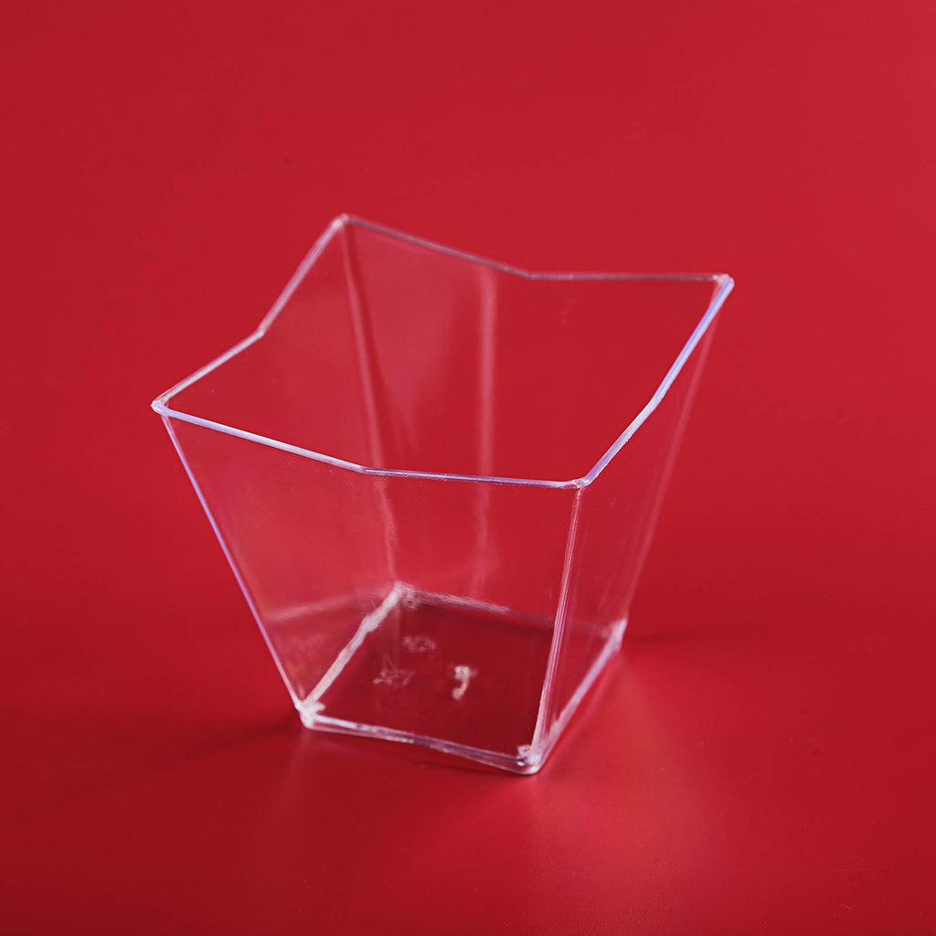 6cf9d280761f 12 Pack 4oz Clear Angled Chambury Plastic Square Disposable Dessert ...