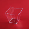 12 Pack 4oz Clear Angled Chambury Plastic Square Disposable Dessert Cup