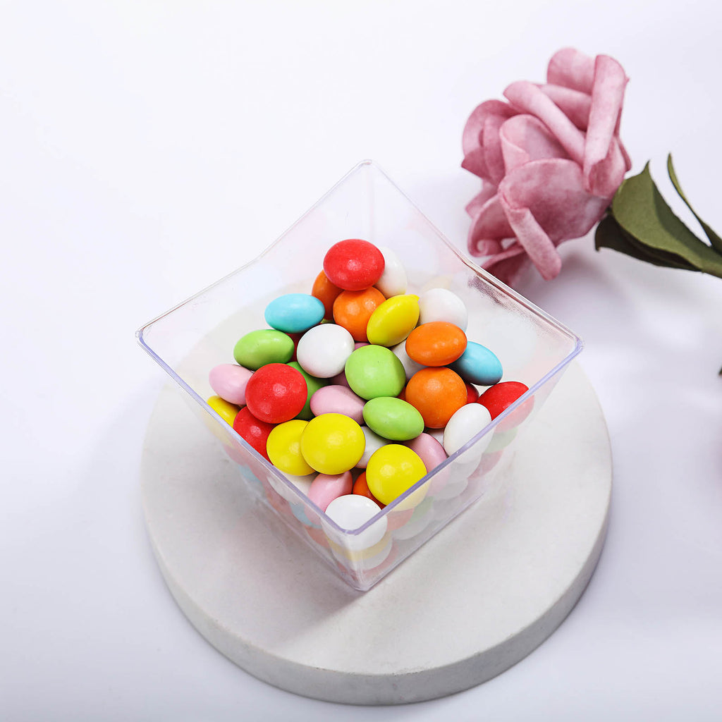 Clear Gift Candy Box Square PVC Chocolate Boxes Wedding Party Event Decor PL PLA