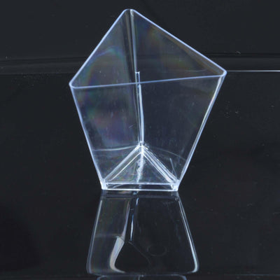 12 Pack Clear Triangular 3oz Disposable Dessert Cup Chambury Plastics