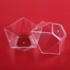 12 Pack Clear Pentagonal 3oz Disposable Dessert Bowl Partytown Plastics