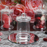 3 OZ Wholesale Plastic Clear Containers Candy Beverage Favor Jar With Clear Lid - 12 PCS