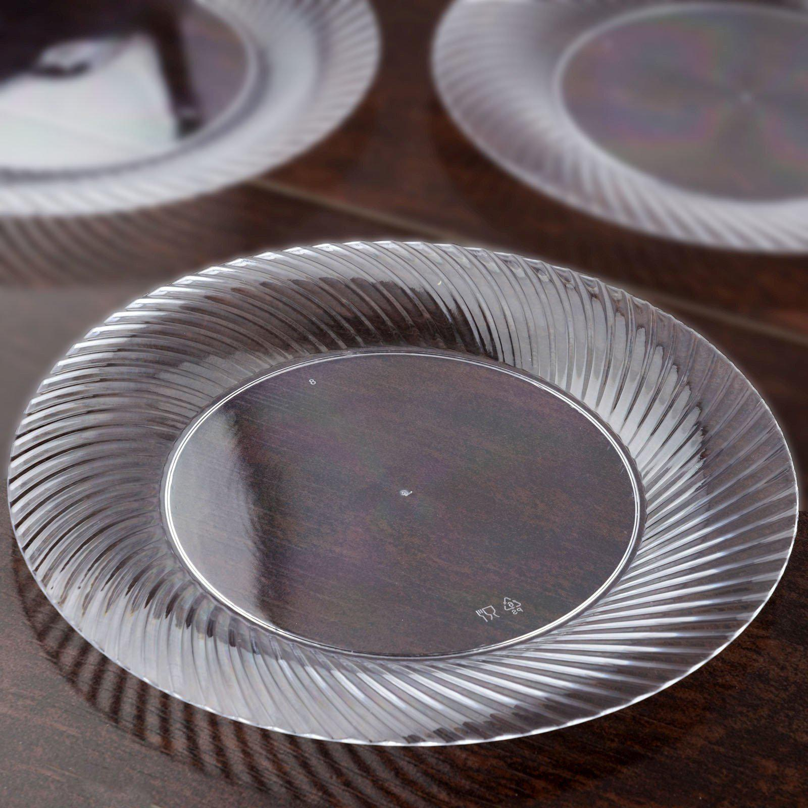 ... 10 Pack - Clear 10  Round Disposable Plate - Twirl Collection ... & 10 Pack 10