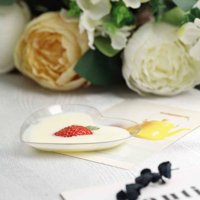 Mini Plastic Appetizer Plates, Disposable Plates, Salad Dessert Plates