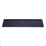 "4 Pack - Black 23"" x 5.75"" Trendy Rectangle Disposable Tray"