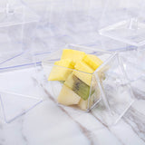 20 Pack 3oz Clear Disposable Plastic Square Dessert Cups With Lid Serving Tray