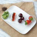 Clear Plastic Appetizer Plates, Oval plates, Dessert Plates