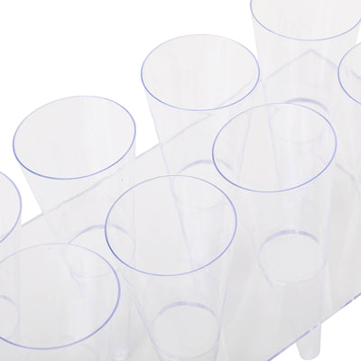 20 Pack 4oz Clear Disposable Plastic Cones With 2 Dessert Holders