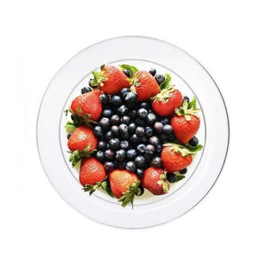 "40 Pack 6"" Clear Crystal Disposable Round Salad Dessert Plates"