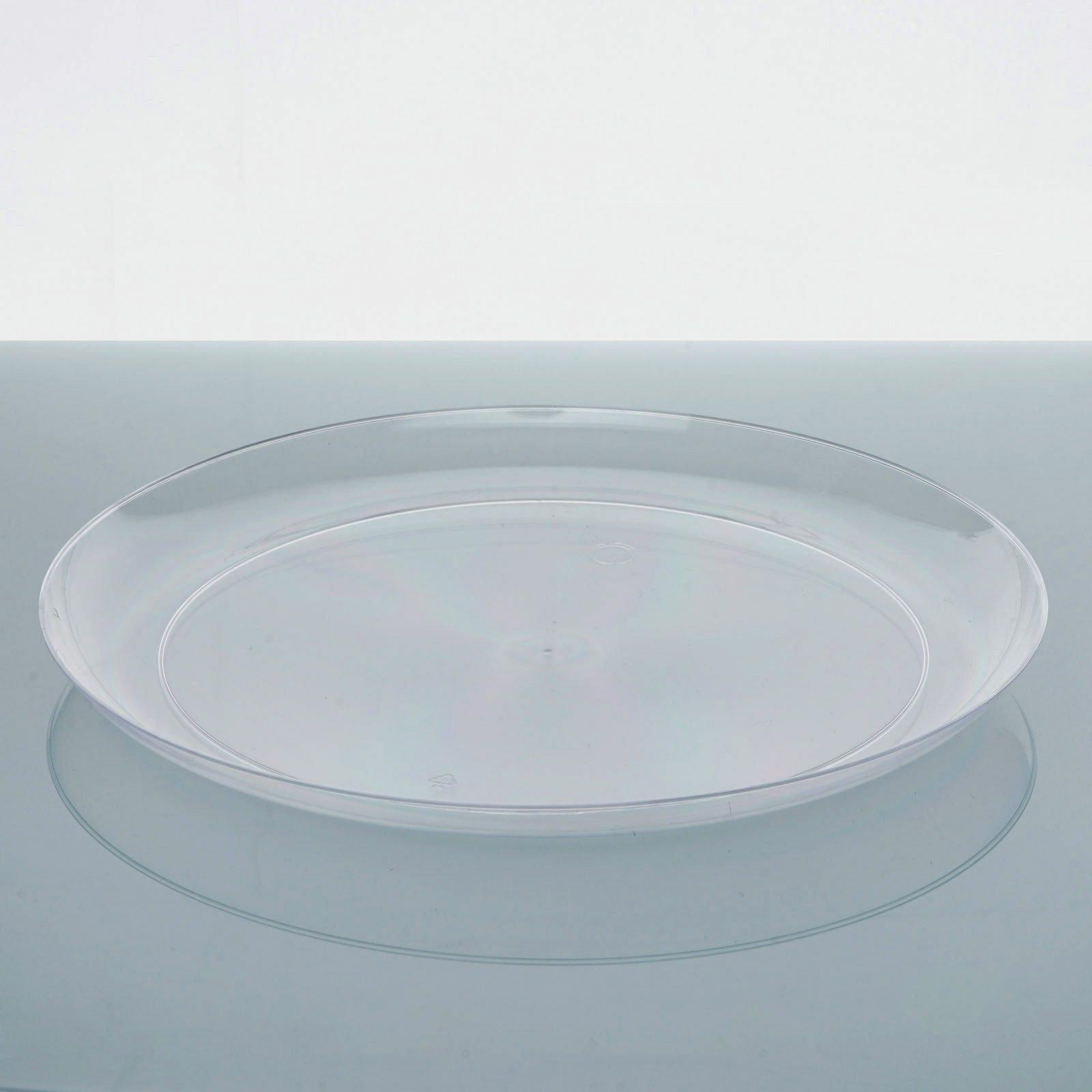 40 Pack - Clear 7.5\  Round Disposable Plate - Crystal Collection ... & 40 Pack 8\