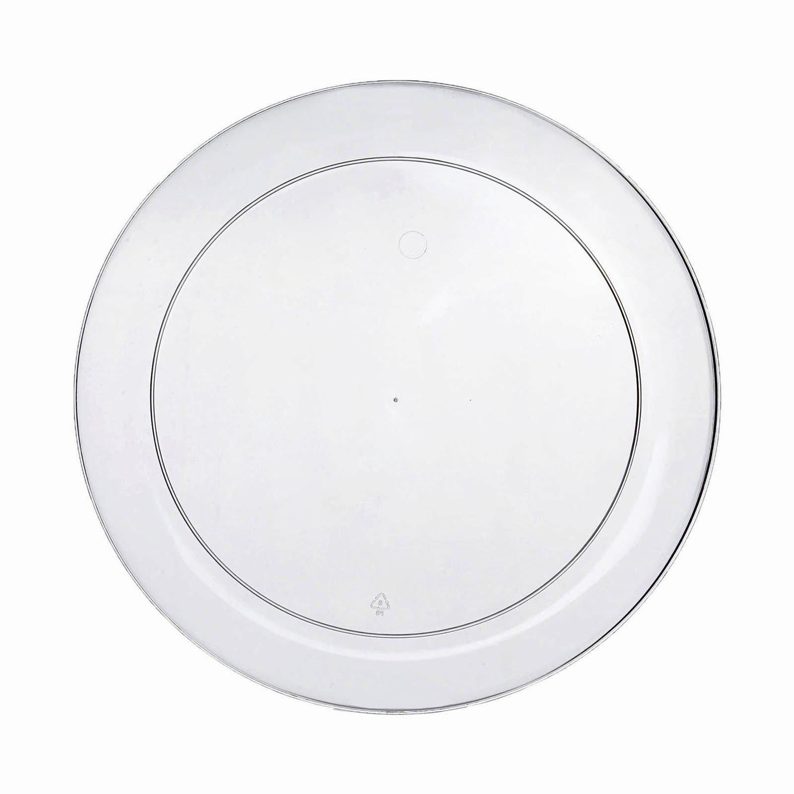 ... 40 Pack - Clear 7.5  Round Disposable Plate - Crystal Collection ...  sc 1 st  Tablecloths Factory & 40 Pack 8