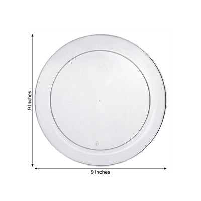 9 inch Clear Plastic Plates, Dinner Plates, Disposable Plates