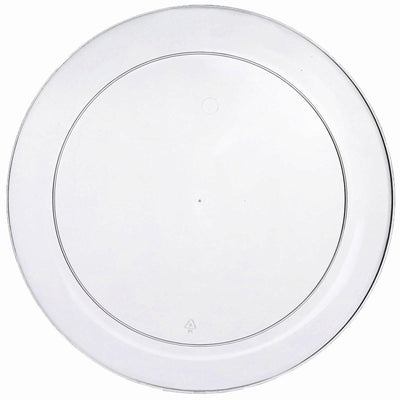 10 inch Clear Plastic Plates, Dinner Plates, Disposable Plates
