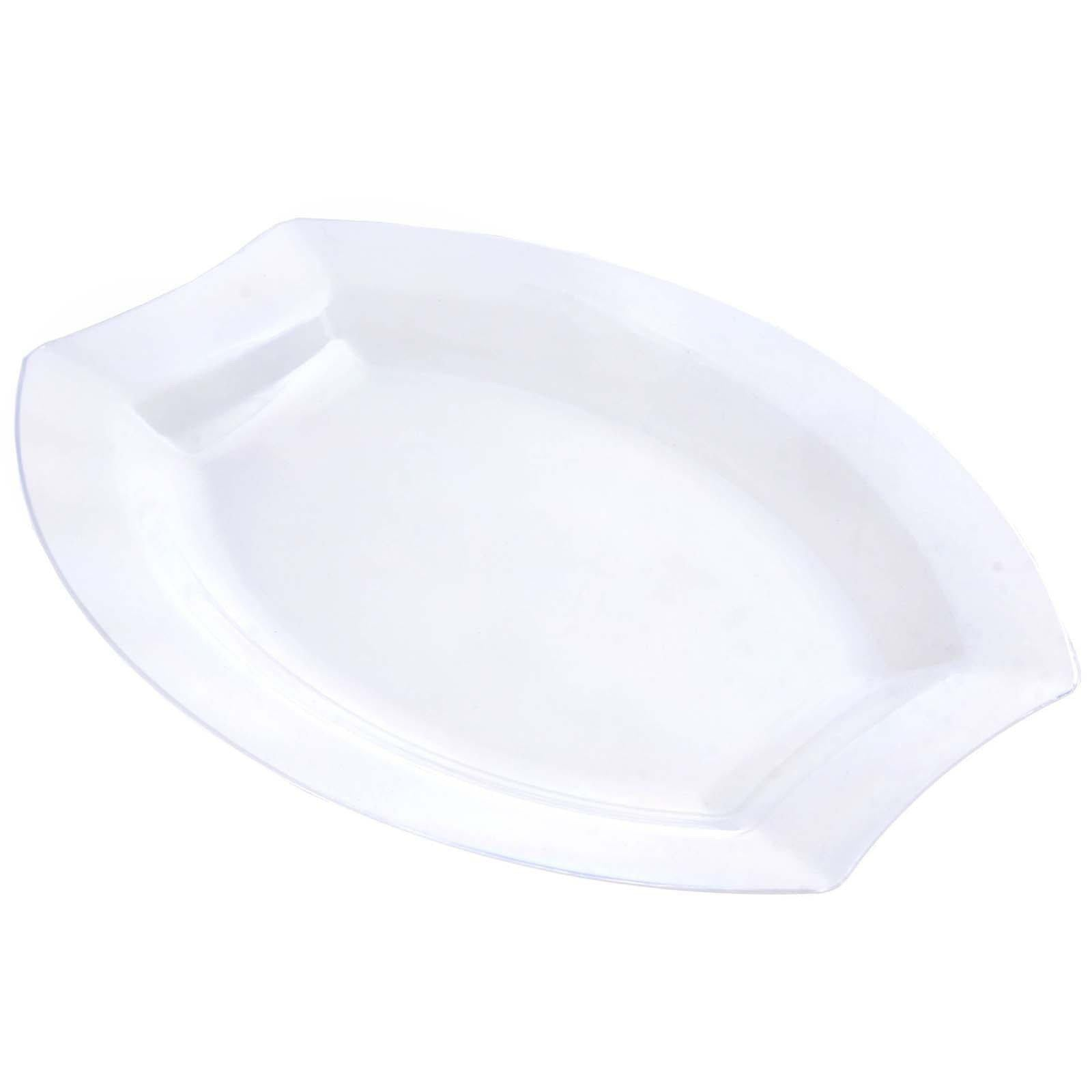10 Pack - Clear 10.5  Crescent Oval Shaped Disposable Plate - Chambury Plastics ...  sc 1 st  Tablecloths Factory & 10 Pack 11