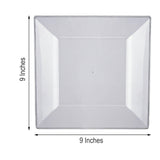 Square Dinner Plates, Clear Plastic Plates, Disposable Plates