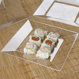 "10 Pack 10"" Clear Disposable Square Dinner Plates"