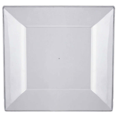 "10 Pack - Clear 10.75"" Square Disposable Plate - Chambury Plastics"