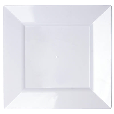 "10 Pack 11"" White Disposable Square Dinner Plates"