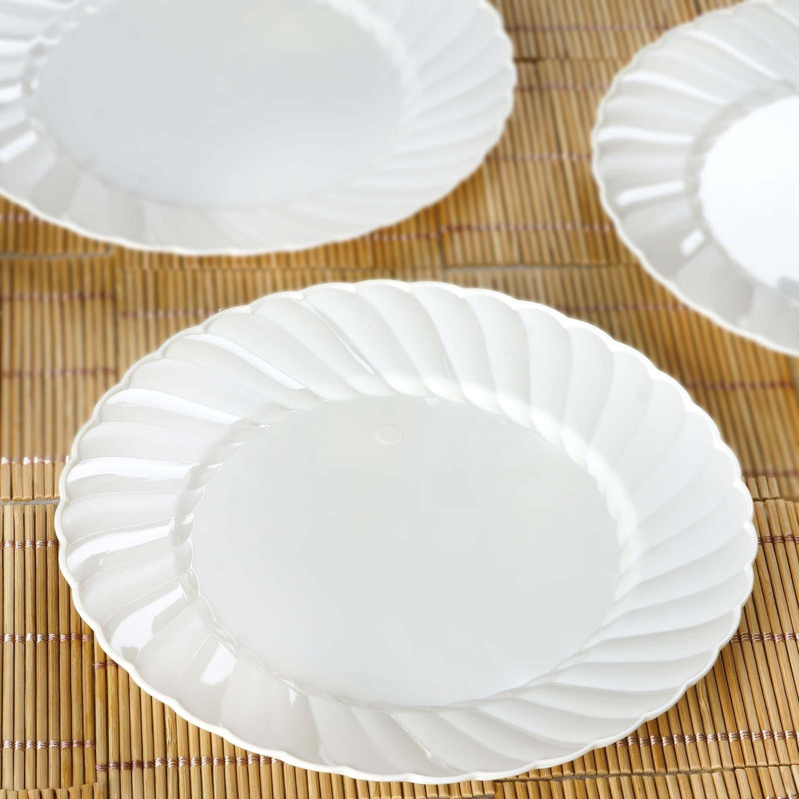 12 Pack - Ivory 7.5  Flaired Round Disposable Plate - Chambury Plastics ...  sc 1 st  Tablecloths Factory & 12 Pack 8