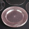 Clear Plastic Plates with Rose Gold Glitter, Plastic Dinner Plates, Party Plates