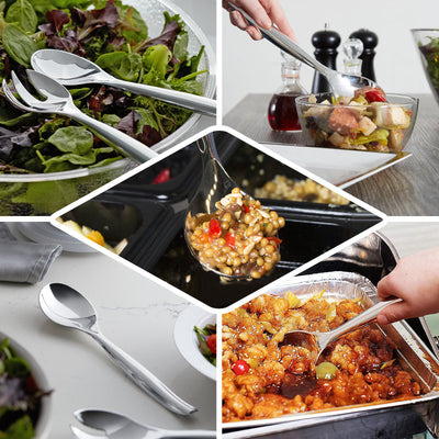 "10"" Silver Heavy Duty Plastic Spoon 