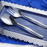 "10"" Silver Chambury Plastic Disposable Serving Fork"