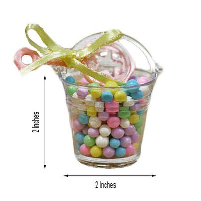 12 Pack Clear Petite Favor Buckets