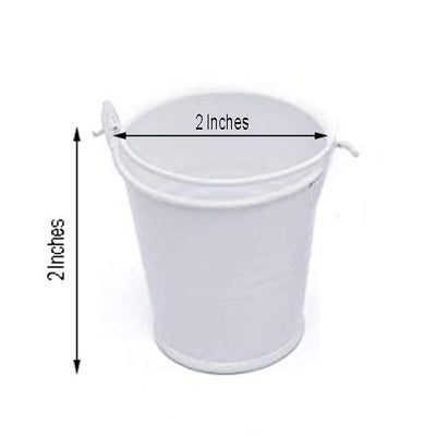 12 Pack White Petite Favor Buckets