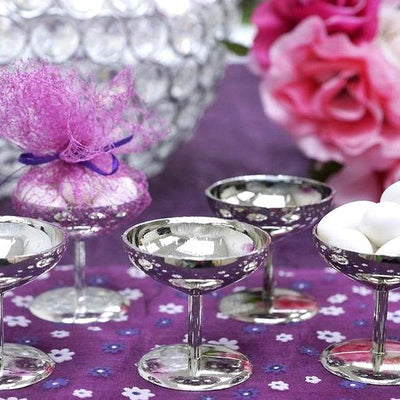 12 Pack 2'' Silver Favor Dessert Cups