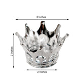 12 Pack | 3 inch Silver Crown Wedding Favors, Party Favors