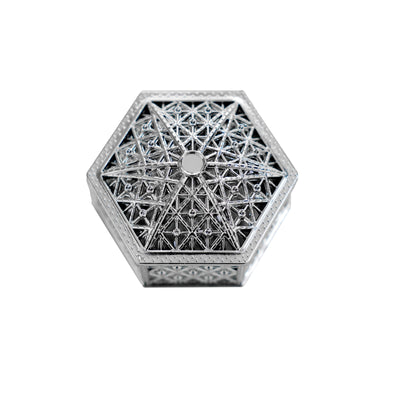 12 Pack | 3 inch Silver Hexagon Box, Candy Container, Party Favors