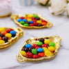 12 Pack | 4.5inch Gold Oval Mini Trays, Baroque Favor Candy Display Tray