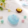 12 Pack | 3.5inch Blue Plastic Sea Shell Decor, Table Accents, Vase Filler, Table Scatter