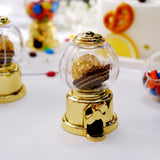 6 Pack | 3.5inch Gold Mini Favor Candy Dispenser, Mini Gumball Machine