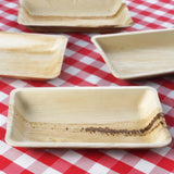 "6.4""x10"" Rectangle Eco-Friendly Palm Leaf Plate 25pk - Chambury Casa"