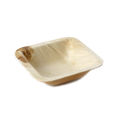 "25 Pack 3"" Eco-friendly Square Disposable Palm Leaf Plate"
